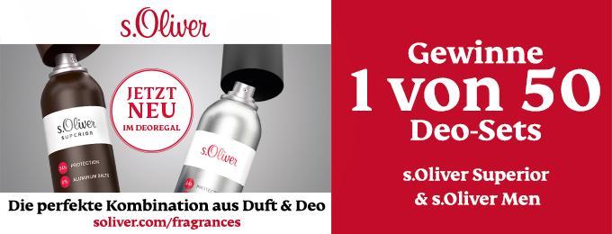 Nutze deine Chance und gewinne jetzt pure Frische mit den neuen s.Oliver Deos!